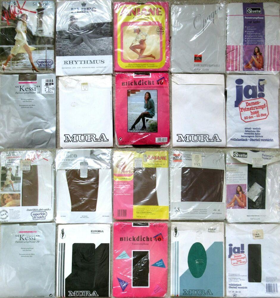 10 X Collants-elbeo-mura-esda - Aniane-vintage-neuf Dans Sa Boîte-taille 40 - 42