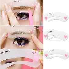 Magic Eye Brow Grooming Shape Drawing Guide Eyebrow Stencil Kit Make-Up Tool