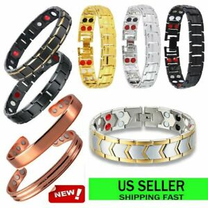 Stone-Magnetic-Bracelet-Carpal-Relief-Arthritis-Bio-Therapy-Chronic-Pain-Jewelry