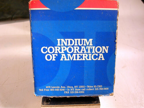 INDIUM CORPORATION SOLID WIRE SOLDER 96 SN 4 AG  NOS