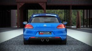 2008-2014 2 échappement trous Arrière Valance VW SCIROCCO MK3 Standard R LOOK