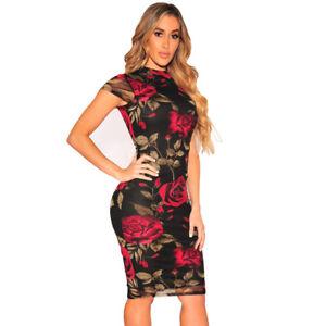 Details About Vestidos Ropa De Moda Para Mujer Largos Casuales De Fiesta Encaje Vestido Rojos