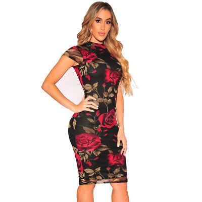 Vestidos Ropa De Moda Para Mujer Largos Casuales De Fiesta Encaje Vestido Rojos Ebay