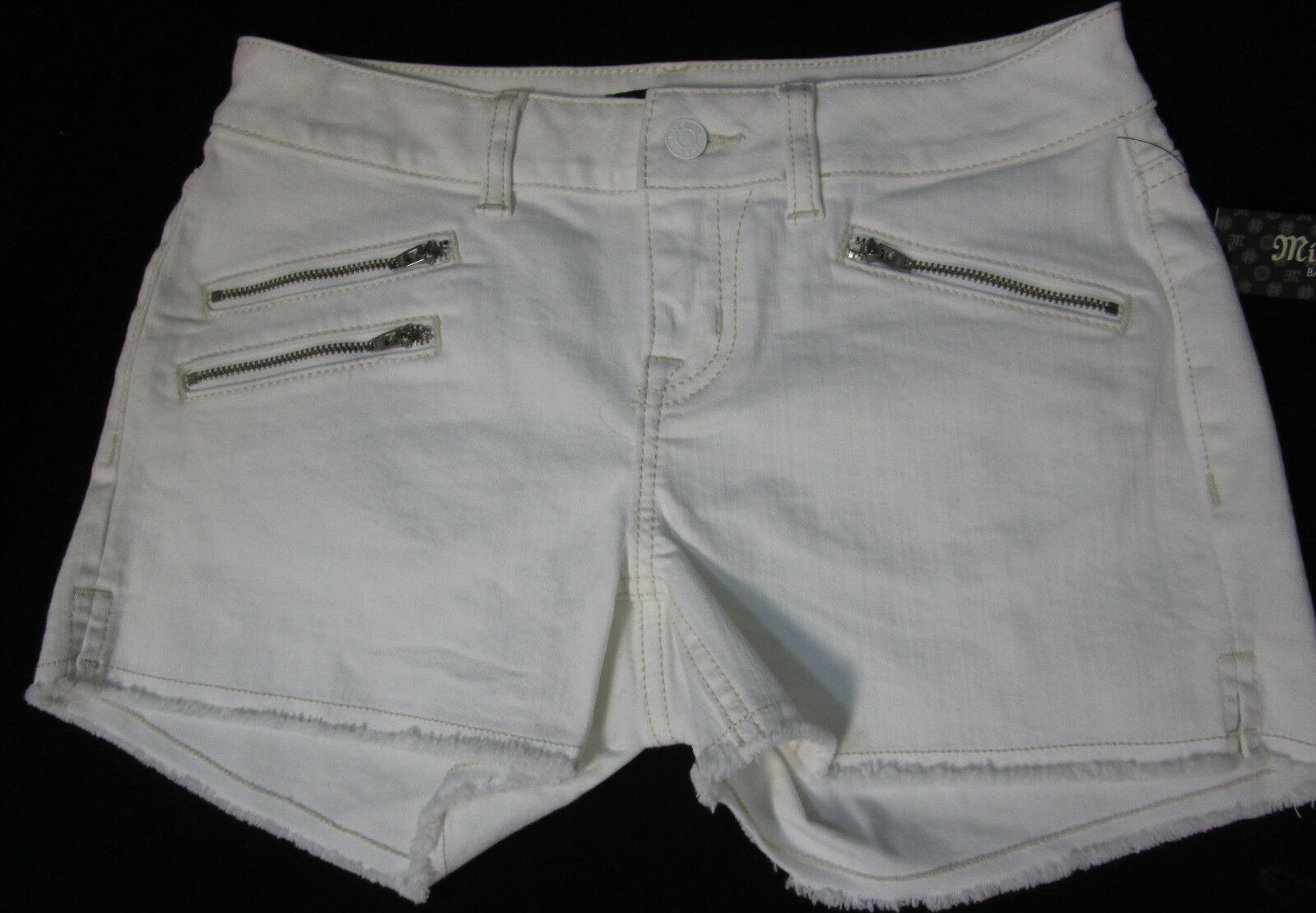 MISS ME jeans  white  id rise short  MO5210H4  25W  new nwt
