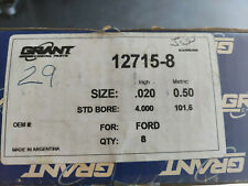 289 302 Ford Dish Top Cast Pistons 020
