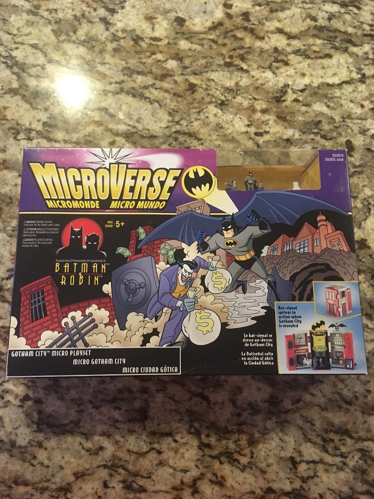 Batman und robin microverse gotham city 1996 new in box.mikro - playset