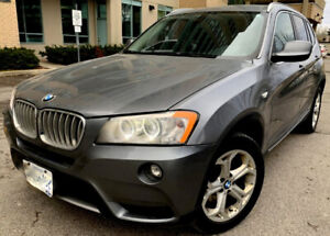2012,BMW X3 28I, NAVIGATION, PANORAMIC ROOF, BLUETOOTH /SAFETY/