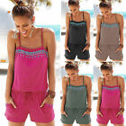 Women Holiday Mini Playsuit Jumpsuit Strap Summer Beach Casual Romper Hot Shorts