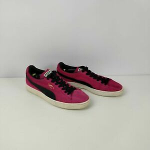 WOMEN-039-S-PUMA-SUEDE-PINK-BLACK-TRAINERS-SNEAKERS-UK-7-EU-40-5-SHOES