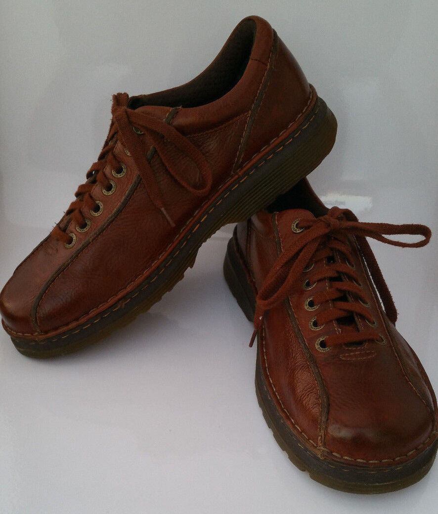 Doc Dr Marten Perry Oxford Brown Leather Bicycle Toe Mens 12 Lace Up shoes