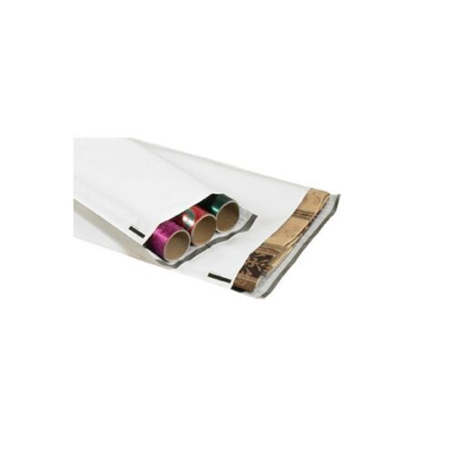 """9 1//2/""""/"""" x 45/""""/"""" /""""Thornton/'s Long Poly Mailers White 50/"""""""