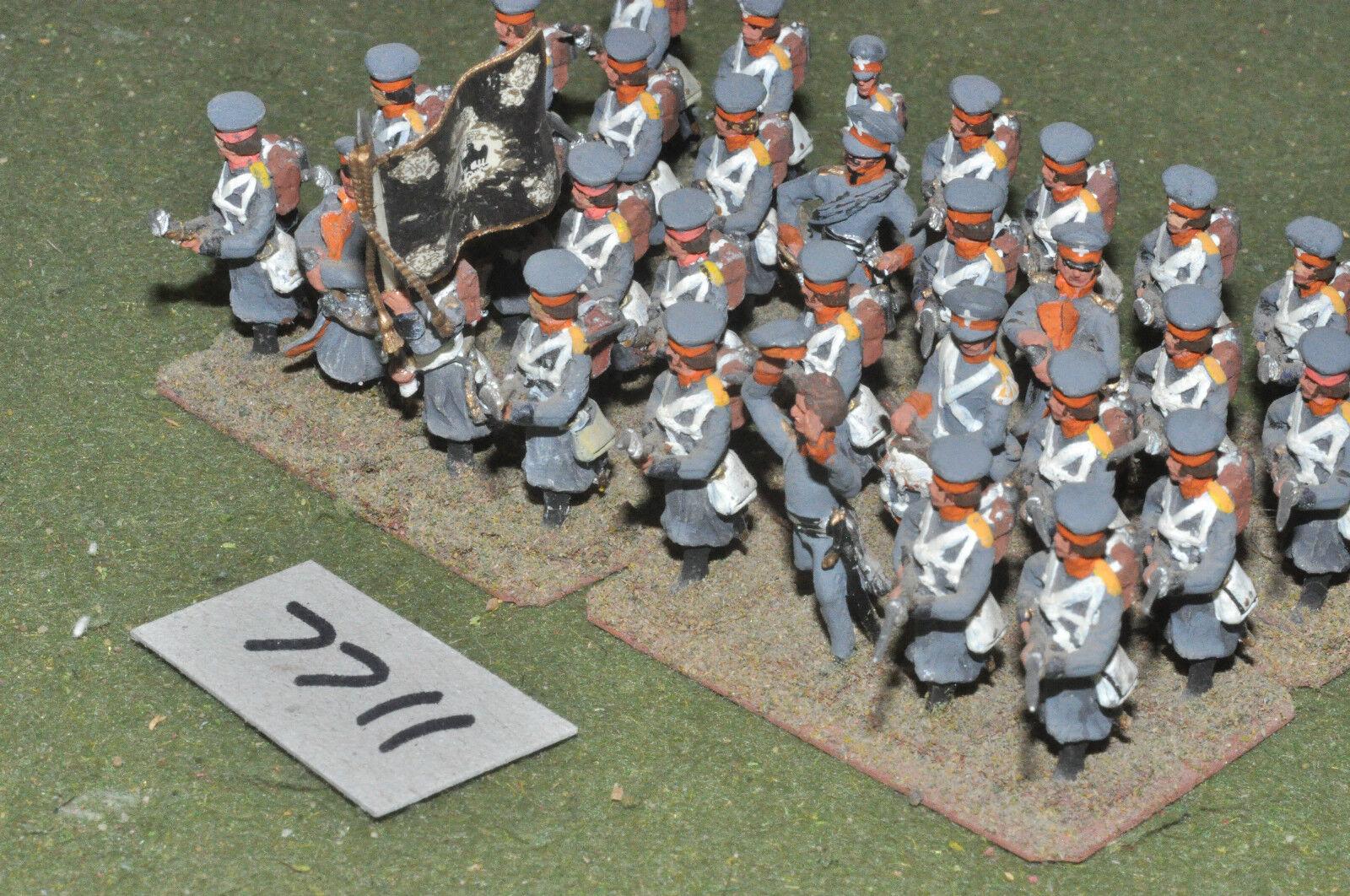 25mm Infantería Napoleónicas Austria - 32 higos Metal Pintado-INF (7711)