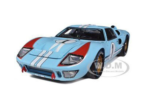 1966 FORD GT-40 MK 2 BLUE #1 DIECAST CAR MODEL 1//18 SHELBY COLLECTIBLES SC411