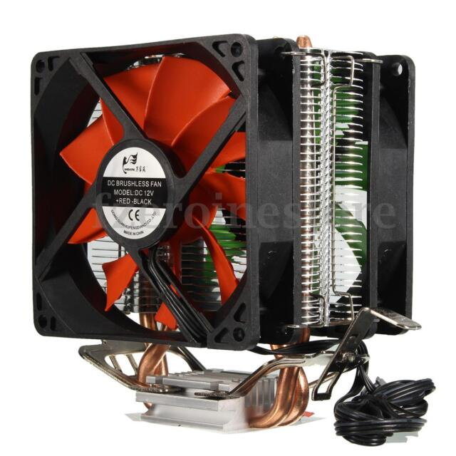 Dual Fan CPU Quiet Cooler Heatsink for Intel LGA1150 1151 1155 775 ADM AM2/AM4