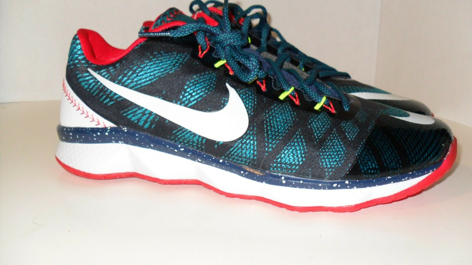 Nike CJ3 Flyweave Trainer Navy Green White Red 725231-413 Mens Sneakers Shoes
