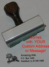 Covered Bridge Rubber Stamp With Custom Address/Message