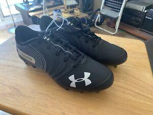 Under-Armour-UA-Nitro-Low-MC-Football-Cleats-Men-039-s-Size-7-Black-White-Silver