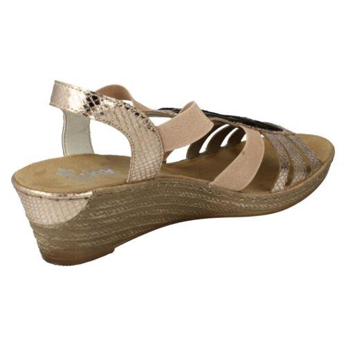 Rieker 90 compensᄄᆭe 62479 Sandale dorᄄᆭe femme pour Aj5L4R3