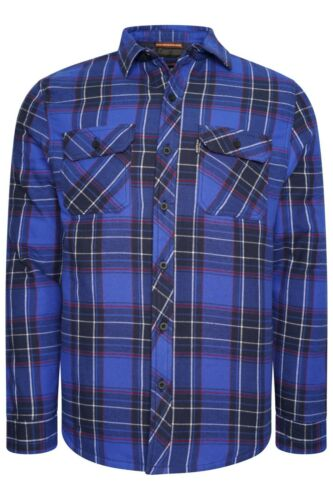 Details about  /River Road Mens Padded Quilted Lined Shirt Lumberjack Fleece Jacket Flannel Work