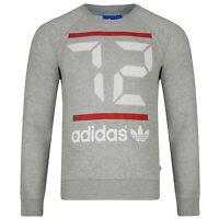 Men's New Adidas Originals Sweatshirt Jumper Sweater Pullover - Grey