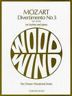 W.A. Mozart: Divertimento No.3 K.439b (Clarinet/Piano) by Chester Music (Paperback, 1989)