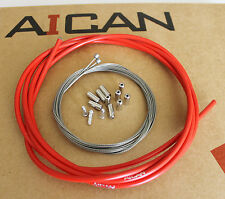 Aican Premium Bike Bicycle Shift Derailleur Cable Housing Set Kit Jagwire Red