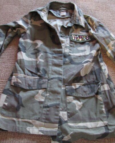 Khaki Print Woman's Army 10 Shirt Size P84qn74