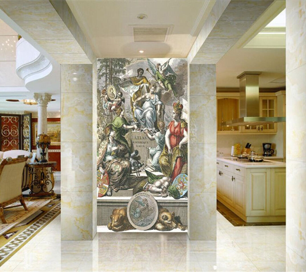 3D People painted 114 Wall Paper wall Print Decal Wall Deco Indoor wall Mural