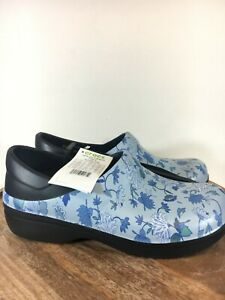 Crocs-Womens-Neria-Pro-II-Graphic-Clog-W-Black-Blue-Floral-205385-01B-Size-W10