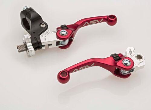 ASV F4 Brake /& Clutch Lever Set Short Red Yamaha YZ125 YZ250 YZ250F YZ450F