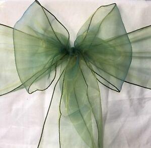 50x Emerald Green Organza Chair Sashes Bow Wedding Banquet Party Ceremony Decor Ebay
