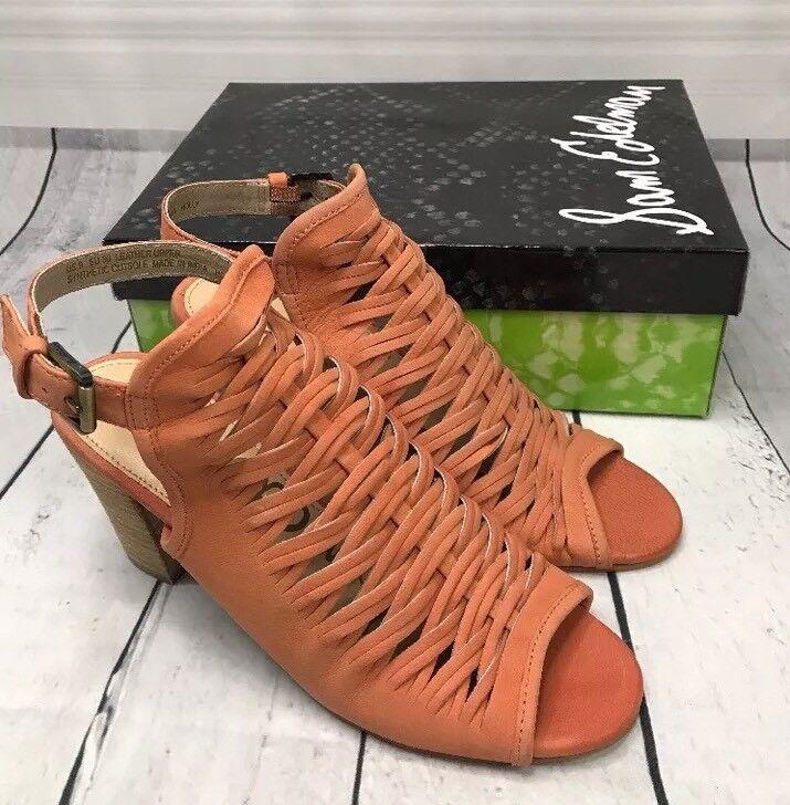 New Sam Edelman Holly Stiefelie Open Toe Toe Toe Woman's Größe 9.5 M  160 710b82