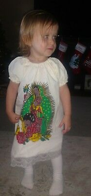 d1c41a6dddd Girls Mexican Dress Virgen de Guadalupe variety of sizes 1-4 toddler | eBay