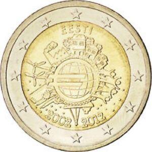 ESTONIE 2012 UNC  2 EURO LES 10 ANS DE L'EURO