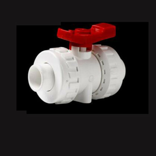 PVC Plastic Water Pipe Fitting Straight//Elbow//Tee Connector Socket /& Ball Valve
