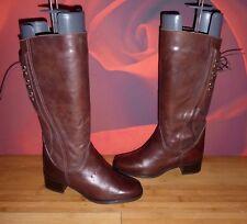 *44* Superb SIXTH SENSE brown leather riding style boots EU 38 UK 5