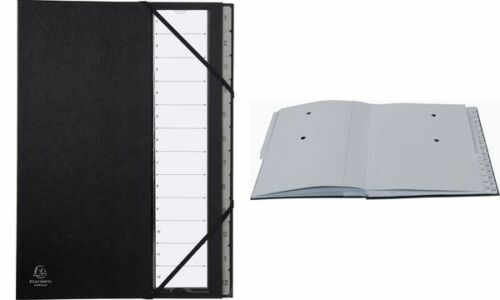 A4 schwarz EXACOMPTA Ordnungsmappe Ordonator 24 Fächer