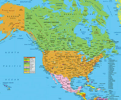 Map Of Usa And Canada And Alaska USA and Canada Map ( North America ) FOR GPS INCLUDES HAWAII AND