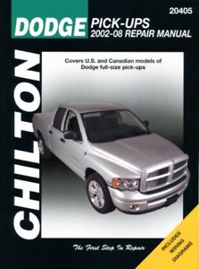 Chilton Workshop Manual Dodge Ram Pick Up Trucks 2002-2008 Service Repair