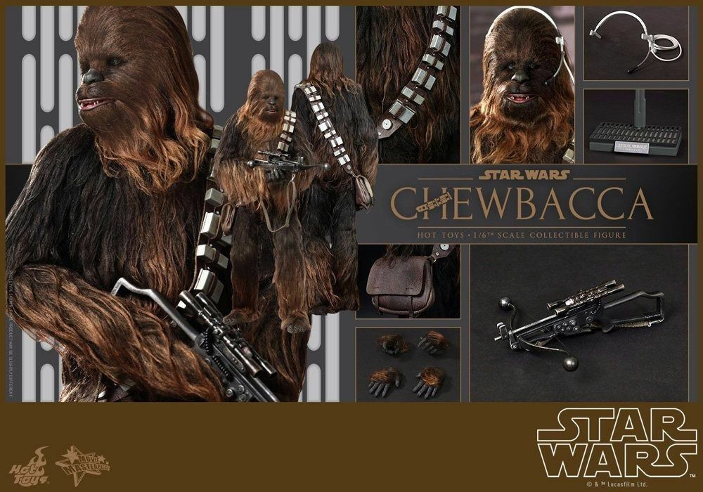 Figurine StarWars : Film Masterpiece Star Wars EP4 Chewbacca 1/6 Figurine Articulée Hot Toys De