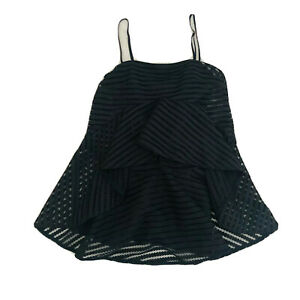 Shona-Joy-Black-A-Line-Mini-Dress-Long-Top-Women-039-s-Size-10-Lined