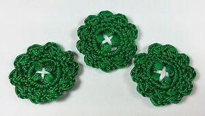 Bottoni-a-uncinetto-per-applicazioni-Set-di-3-bottoni-color-verdi