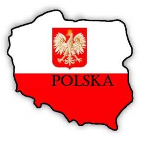 Auto-Aufkleber-034-Polska-034-Polen-Poland-Vinyl-Sticker-konturgeschnitten