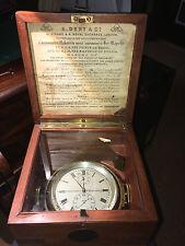 Antique chronometer chronograph ship's clock - works!