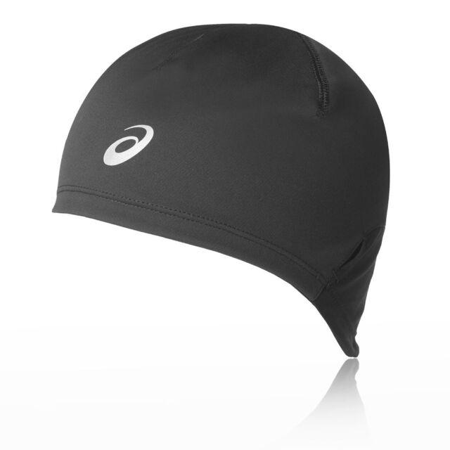 33f88e81b2f Asics Unisex Winter Beanie Black Sports Running Lightweight Warm Hat  Headwear