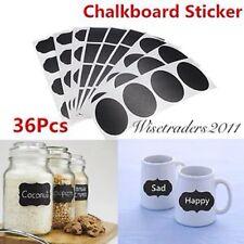 36pcs Removable Chalkboard Blackboard Cup Jar Jam Label Wall Sticker Decal