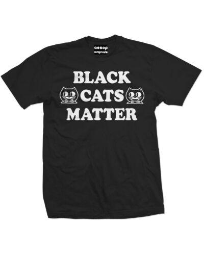 NEW MENS Aesop Originals BLACK CATS MATTER Tee Shirt BLACK SMALL-3XLARGE TATTOO
