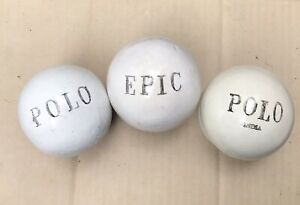 Lot of 3 Vintage Bamboo Root Polo Balls by Gordon Meurisse /& Co.