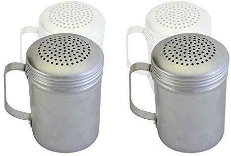 Salt and Pepper Shakers 10 Oz Dredge With Handle Aluminum Kitchen Utensil 2 PC