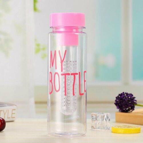 Clear My Bottle Sport Fruit Juice Water Cup Portable 500ML Travel Bottle TR